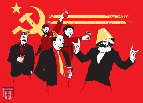 Communist Party t-shirt graphic