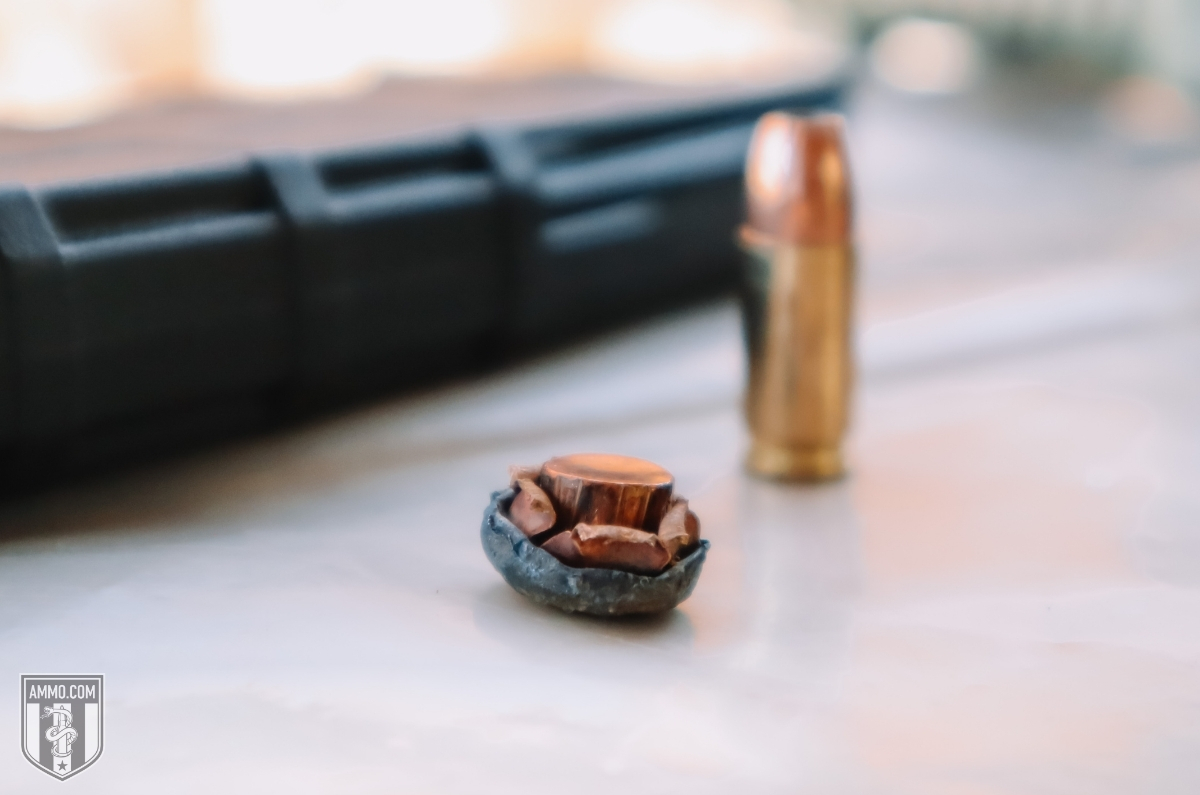 fired hollow point bullet