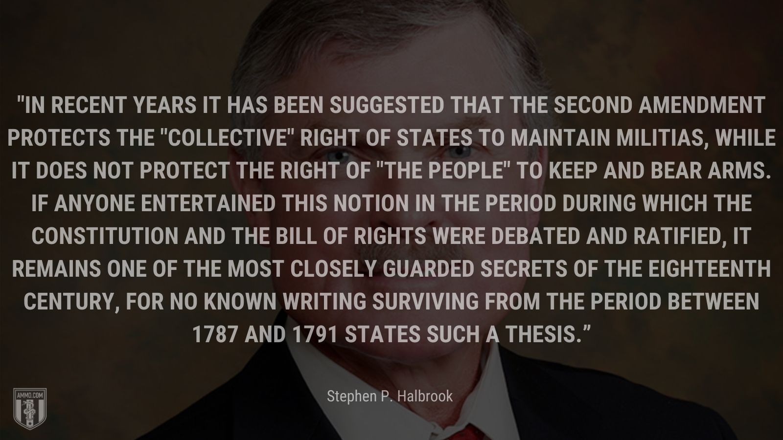 """""""In recent years it has been suggested that the Second Amendment protects the"""