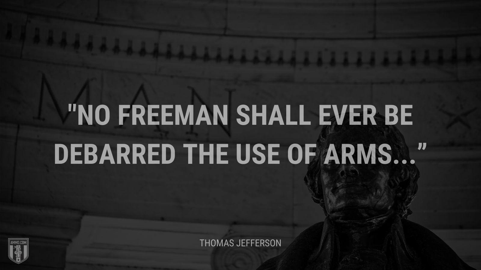 """No freeman shall ever be debarred the use of arms..."" - Thomas Jefferson"