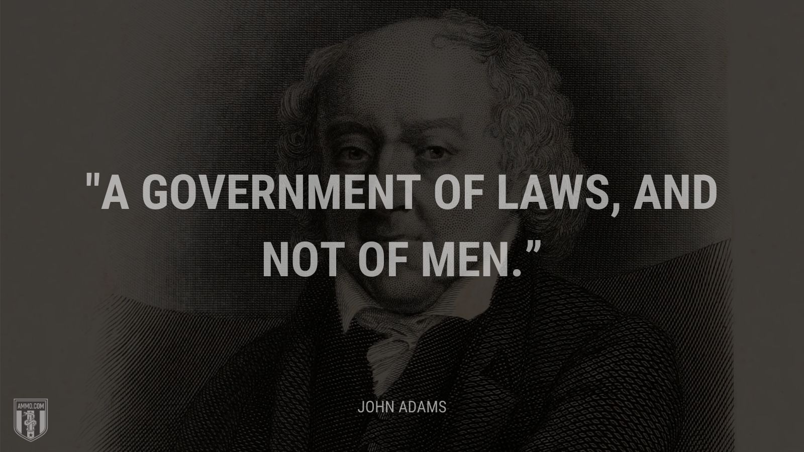 """A government of laws, and not of men."" - John Adams"