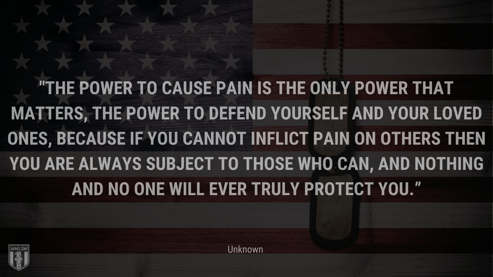 """""""The power to cause pain is the only power that matters, the power to defend yourself and your loved ones, because if you cannot inflict pain on others then you are always subject to those who can, and nothing and no one will ever truly protect you."""" - Unknown"""