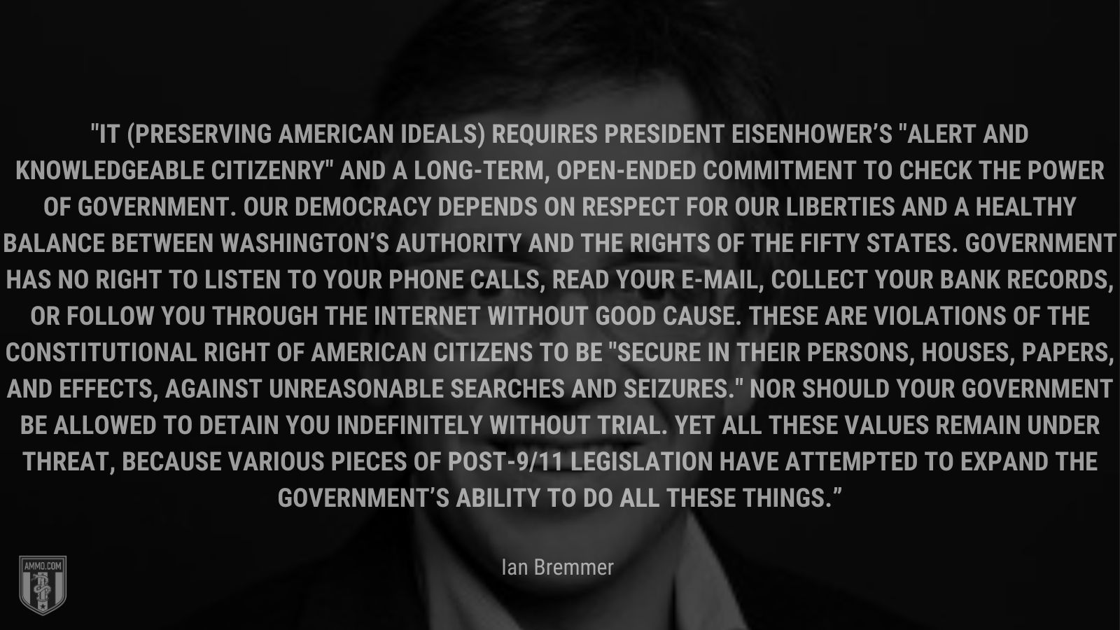 """""""It (preserving American ideals) requires President Eisenhower's"""
