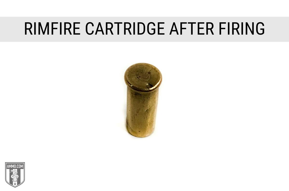 rimfire casing after firing