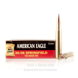Image For 20 Rounds Of 150 Grain FMJ Boxer Brass 30-06 Federal Ammunition