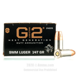 Image For 20 Rounds Of 147 Grain JHP Boxer Nickel-Plated Brass 9mm Speer Ammunition