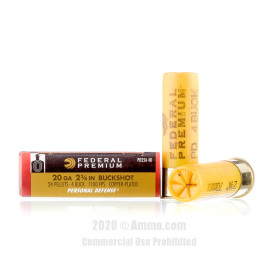Image For 5 Rounds Of #4 Buck 20 Gauge Federal Ammunition
