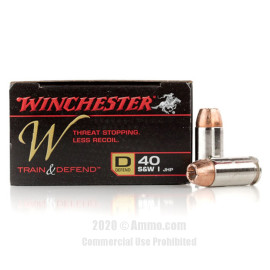 Image For 200 Rounds Of 180 Grain JHP Boxer Nickel-Plated Brass 40 Cal Winchester Ammunition