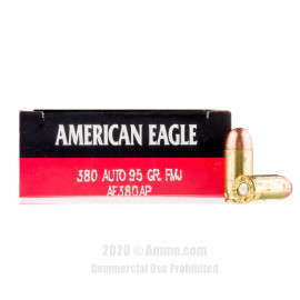 Image For 1000 Rounds Of 95 Grain FMJ Boxer Brass 380 ACP Federal Ammunition