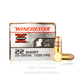 Image For 50 Rounds Of 29 Grain LRN Rimfire Brass 22 Short Winchester Ammunition