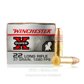 Image For 500 Rounds Of 37 Grain CPHP Rimfire Brass 22 LR Winchester Ammunition