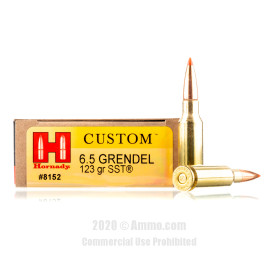 Image For 20 Rounds Of 123 Grain SST Boxer Brass 6.5 Grendel Hornady Ammunition