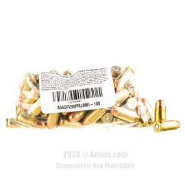 Image For 1000 Rounds Of 230 Grain TMJ Boxer Brass 45 Auto MBI Ammunition