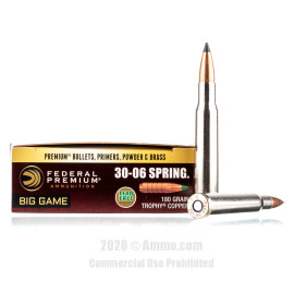 Image For 20 Rounds Of 180 Grain Polymer Tipped Boxer Brass 30-06 Federal Ammunition