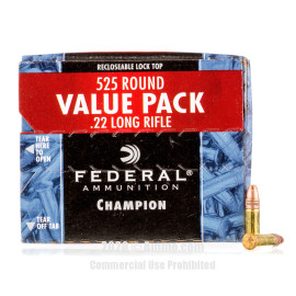 Image For 5250 Rounds Of 36 Grain CPHP Rimfire Brass 22 LR Federal Ammunition