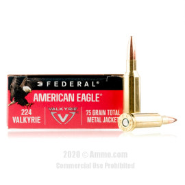 Image For 200 Rounds Of 75 Grain TMJ Boxer Brass 224 Valkyrie Federal Ammunition