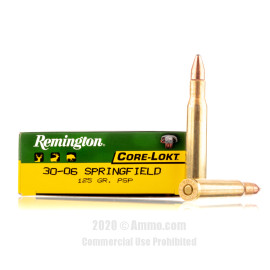 Image For 20 Rounds Of 125 Grain PSP Boxer Brass 30-06 Remington Ammunition