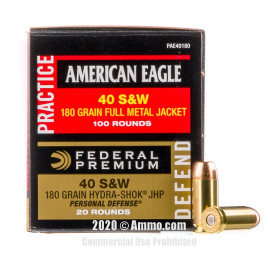 Image For 120 Rounds Of 180 Grain FMJ Boxer 40 Cal Federal Ammunition