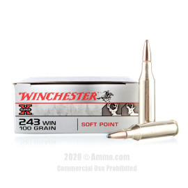 Image For 20 Rounds Of 100 Grain PP Boxer Brass 243 Win Winchester Ammunition