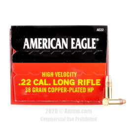 Image For 40 Rounds Of 38 Grain CPHP Rimfire Brass 22 LR Federal Ammunition