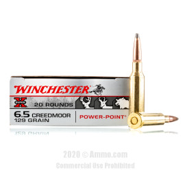 Image For 20 Rounds Of 129 Grain PP Boxer Brass 6.5 Creedmoor Winchester Ammunition