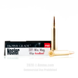 Image For 20 Rounds Of 180 Grain Polymer Tipped Boxer Brass 300 Win Mag Nosler Ammunition Ammunition
