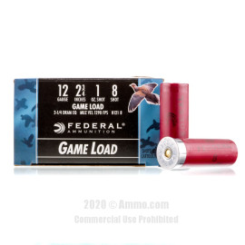 Image For 25 Rounds Of 1 oz. #8 Shot 12 Gauge Federal Ammunition
