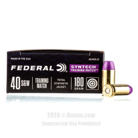Image For 50 Rounds Of 180 Grain TSJ Boxer Brass 40 Cal Federal Ammunition