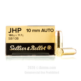 Image For 1000 Rounds Of 180 Grain JHP Boxer Brass 10mm Sellier and Bellot Ammunition