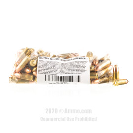Image For 1000 Rounds Of 124 Grain TMJ Boxer Brass 9mm MBI Ammunition