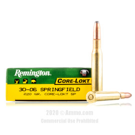 Image For 20 Rounds Of 220 Grain SP Boxer Brass 30-06 Remington Ammunition