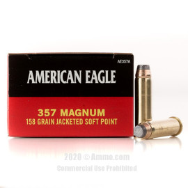 Image For 1000 Rounds Of 158 Grain JSP Boxer Brass 357 Magnum Federal Ammunition