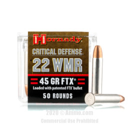 Image For 2000 Rounds Of 45 Grain FTX Rimfire Brass 22 WMR Hornady Ammunition