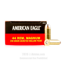Image For 50 Rounds Of 240 Grain JHP Boxer Brass 44 Magnum Federal Ammunition