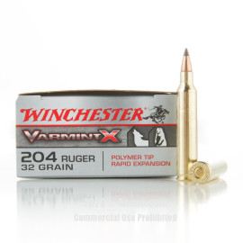 Image For 20 Rounds Of 32 Grain Polymer Tipped Boxer Brass 204 Ruger Winchester Ammunition