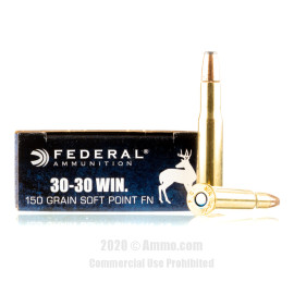 Image For 20 Rounds Of 150 Grain SP Boxer Brass 30-30 Federal Ammunition