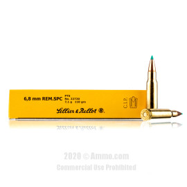 Image For 20 Rounds Of 110 Grain PTS Boxer Brass 6.8 SPC Sellier and Bellot Ammunition