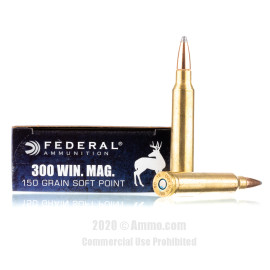 Image For 20 Rounds Of 150 Grain SP Boxer Brass 300 Win Mag Federal Ammunition