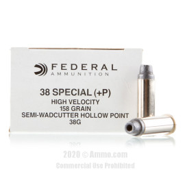 Image For 50 Rounds Of 158 Grain LSWCHP Boxer Brass 38 Special Federal Ammunition