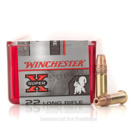 Image For 100 Rounds Of 40 Grain PP Rimfire Brass 22 LR Winchester Ammunition