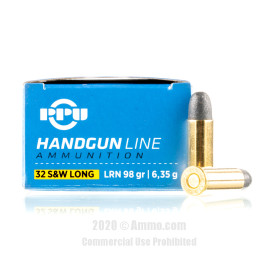 Image For 50 Rounds Of 98 Grain LRN Boxer Brass 32 S&W Long Prvi Partizan Ammunition