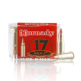 Image For 50 Rounds Of 17 Grain V-MAX Rimfire Brass 17 HM2 Hornady Ammunition