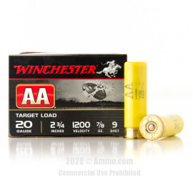 Image For 25 Rounds Of 7/8 oz. #9 Shot 20 Gauge Winchester Ammunition