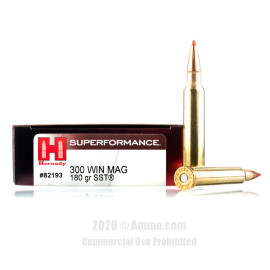 Image For 20 Rounds Of 180 Grain SST Boxer Brass 300 Win Mag Hornady Ammunition