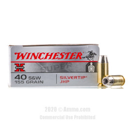 Image For 50 Rounds Of 155 Grain JHP Boxer Brass 40 Cal Winchester Ammunition