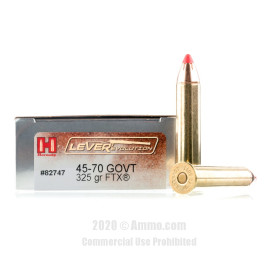 Image For 20 Rounds Of 325 Grain FTX Boxer Brass 45-70 Govt Hornady Ammunition