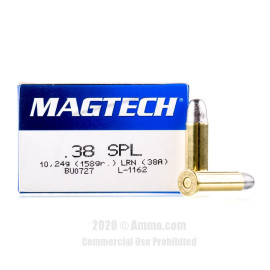 Image For 1000 Rounds Of 158 Grain LRN Boxer Brass 38 Special Magtech Ammunition