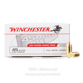 Image For 600 Rounds Of 230 Grain FMJ Boxer Brass 45 Auto Winchester Ammunition