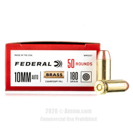 Image For 1000 Rounds Of 180 Grain FMJ Boxer Brass 10mm Federal Ammunition
