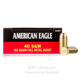 Image For 1000 Rounds Of 165 Grain FMJ Boxer Brass 40 Cal Federal Ammunition